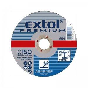 Kotouč brusný na ocel 125x6,0x22,2mm EXTOL PREMIUM 8808702
