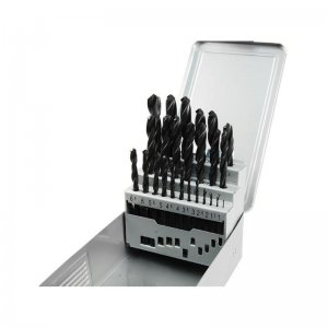 Vrtáky do kovu v kovové krabičce sada 25ks EXTOL PREMIUM 8801192
