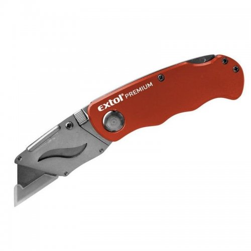 Nůž zavírací s vyměnným břitem 18mm + 5ks břitů EXTOL PREMIUM 8855000