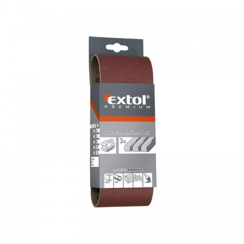 Nekonečný pás brusné plátno bal.3ks P80 EXTOL PREMIUM 8803508