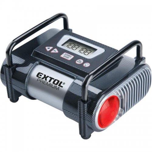 Kompresor do auta 12V s LCD a světlem EXTOL PREMIUM CC140 8864006