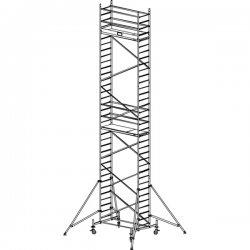 Pojízdné hliníkové lešení do 10,3 m ProTec 2 x 0,7 m