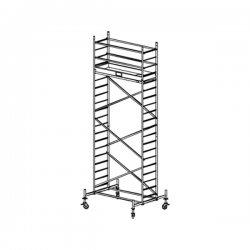 Pojízdné hliníkové lešení do 6,3 m ProTec 2 x 0,7 m