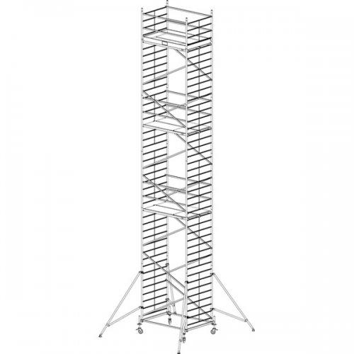 Pojízdné hliníkové lešení do 12,3 m ProTec 2 x 1,35 m