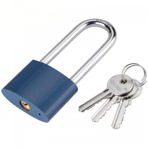 Zámek visací litinový prodloužený 52mm 3 klíče zacvakávací EXTOL CRAFT 93252