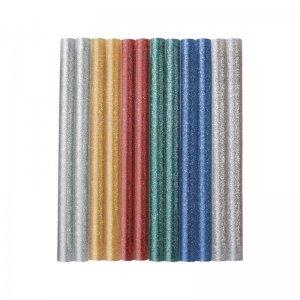 Tavné tyčinky mix barev se třpytem (glitter) průměr 7,2x100mm 12ks EXTOL CRAFT 9910