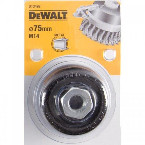 Drátěný kartáč kroucené uzly délka 22mm průměr 75mm pro úhlové brusky DeWALT DT3492