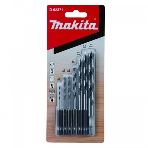 Sada vrtáků do dřeva 7ks Makita D-62371
