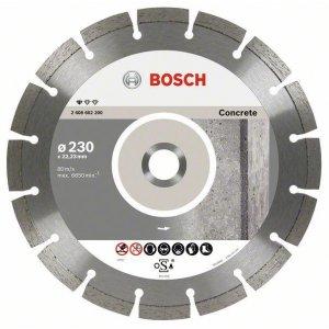 Diamantový dělicí kotouč Standard for Concrete 230 x 22,23 x 2,3 x 10 mm Bosch 2608602200