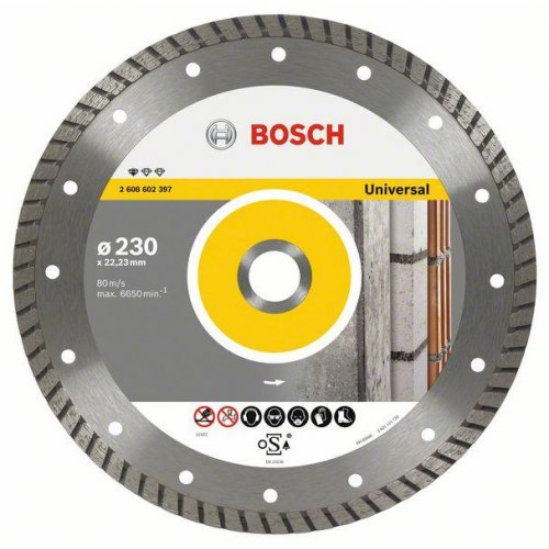 Diamantový dělicí kotouč Standard for Universal Turbo 180 x 22,23 x 2,5 x 10 mm Bosch 2608602396