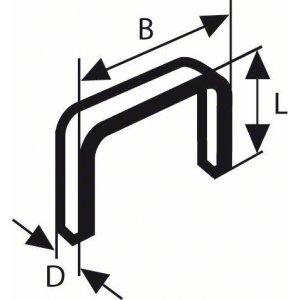 Sponky do sponkovačky z tenkého drátu, typ 53 11,4 x 0,74 x 10 mm Bosch 1609200366