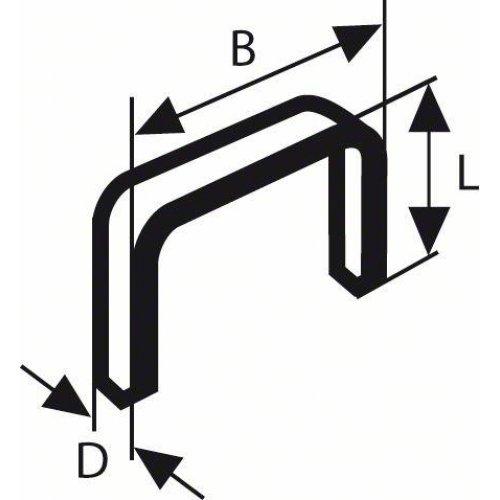 Sponky do sponkovačky z plochého drátu, typ 57 10,6 x 1,25 x 10 mm Bosch 2609200231