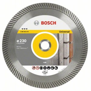 Diamantový dělicí kotouč Best for Universal Turbo 125 x 22,23 x 2,2 x 12 mm Bosch 2608602672