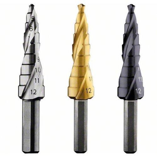Stupňovitý vrták HSS-TiN 4 - 12 mm, 6,0 mm, 66,5 mm Bosch 2608597525
