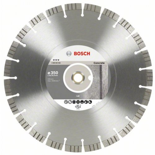 Diamantový dělicí kotouč Best for Concrete 450 x 25,4 x 3,6 x 12 mm Bosch 2608602660