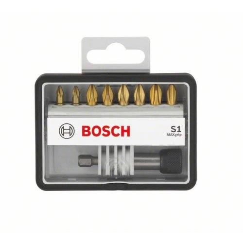 8+1dílné sady šroubovacích bitů Robust Line, S Max Grip 25 mm Bosch