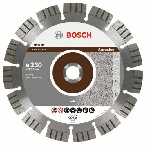 Diamantový dělicí kotouč Best for Abrasive 125 x 22,23 x 2,2 x 12 mm Bosch 2608602680