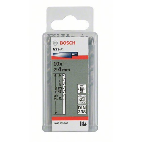 Vrták do kovu HSS-R, DIN 338 2,2 x 27 x 53 mm Bosch 2607018404