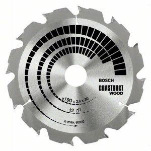 Pilový kotouč Construct Wood 190 x 30 x 2,6 mm, 12 Bosch