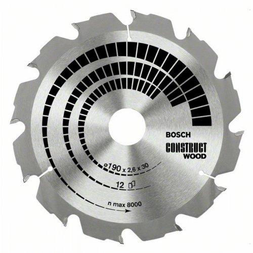 Pilový kotouč Construct Wood 190 x 20/16 x 2,6 mm, 12 Bosch
