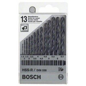 Sada vrtáků do kovu HSS-R, 13dílná, DIN 338 Bosch 1609200201