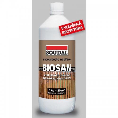 Napouštědlo na dřevo SOUDAL BIOSAN FORTE transparent 1kg