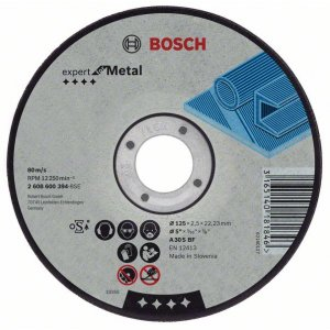Řezný kotouč rovný na kov Expert for Metal AS 46 S BF, 125 mm, 22,23 mm, 1,6 mm Bosch 2608600219