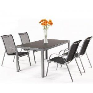 Sestava zahradního nábytku z hliníku VERGIO 4+