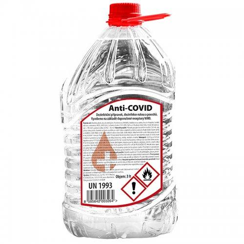 Dezinfekce na ruce a povrchy 3l ANTI-COVID