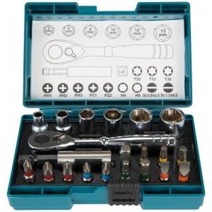 Sada bitů a nástrčkových klíčů s ráčnou 21ks Makita B-54081