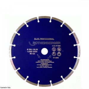 Diamantový kotouč 230mm laserové 7mm segmenty ROTHENBERGER BLUE PROFESSIONAL