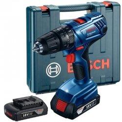 Aku příklepový vrtací šroubovák 2x1,5Ah Bosch GSB 180-LI Professional