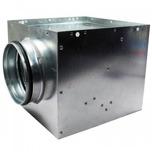 Připojovací box o rozměru 570 x 570 mm a s přírubou, 250 mm DALAP PLENUM BOX 250/570