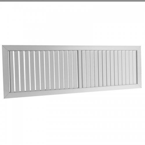 Plastová mřížka s pevnou horizontální žaluzií 363 x 934 mm, šedá  DALAP GPVG 900x350