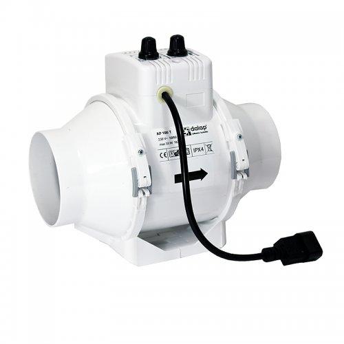 Výkonný plastový potrubní ventilátor 123mm DALAP AP 125 STARK T