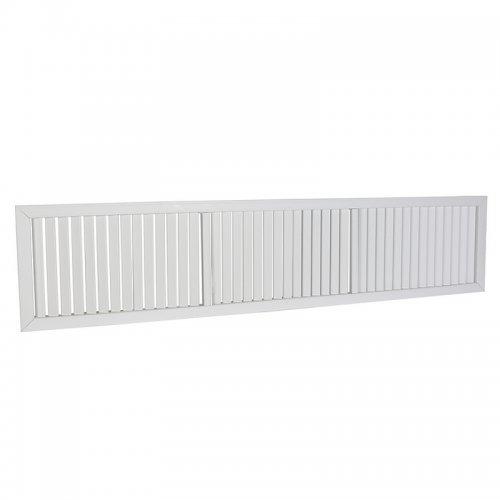Plastová mřížka s pevnou horizontální žaluzií 602 x 1364 mm, bílá  DALAP GPV 1350x600
