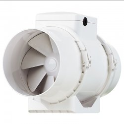 Výkonný plastový potrubní ventilátor 123mm DALAP AP 125 Z