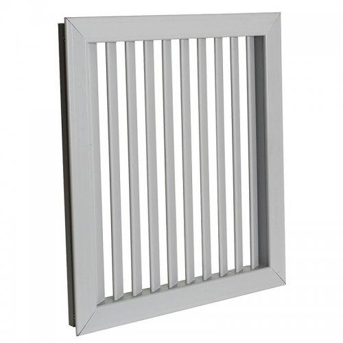 Plastová mřížka s pevnou horizontální žaluzií 303 x 512 mm, šedá  DALAP GPVG 500x300