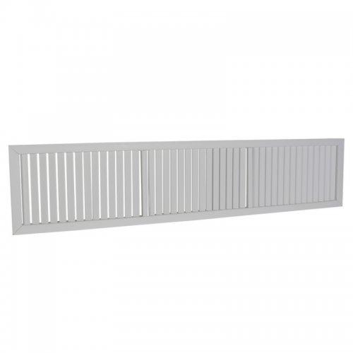 Plastová mřížka s pevnou horizontální žaluzií 452 x 1514 mm, šedá   DALAP GPVG 1500x450