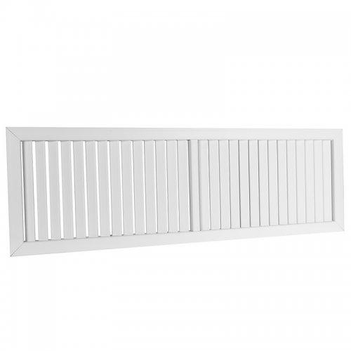 Plastová mřížka s pevnou horizontální žaluzií 392 x 1234 mm, bílá   DALAP GPV 1200x400