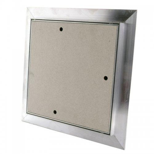 Revizní hliníková dvířka do sádrokartonu, prachotěsná, bílá deska, 500 x 500 mm DALAP RDD 500x500