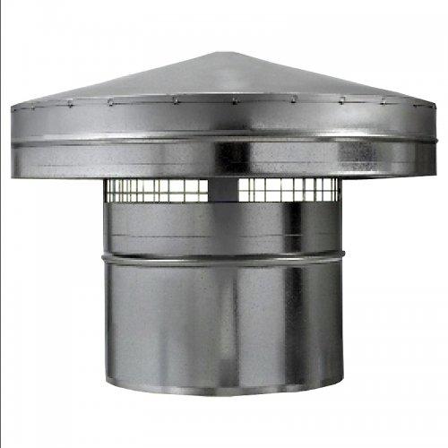 Stříška protidešťová z pozinkovaného plechu k zakončení vzduch. rozvodů, 315 mm DALAP PS 315