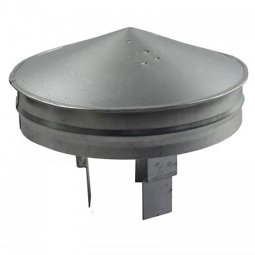 Stříška protidešťová z pozinkovaného plechu k zakončení vzduch. Rozvodů, 80 - 125 mm DALAP PSA 080-125