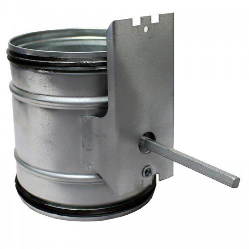 Zpětná klapka s těsnící gumou a přípravou na servopohon, 100 mm DALAP KTP 100