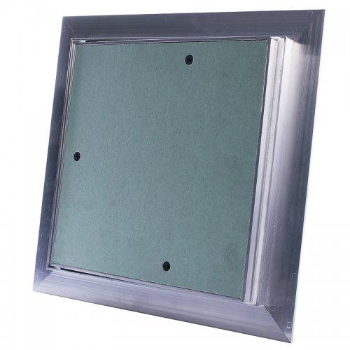 Revizní hliníková dvířka do sádrokartonu, prachotěsná, zelená deska, 400 x 400 mm  DALAP RDDB 400x400