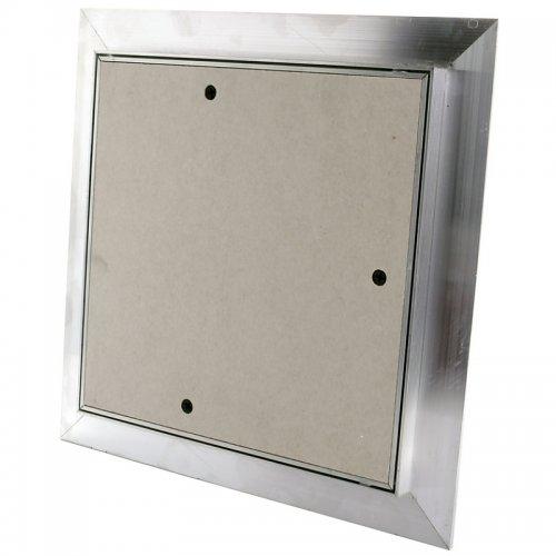 Revizní hliníková dvířka do sádrokartonu, bílá deska, 300 x 300 mm DALAP RD 300x300