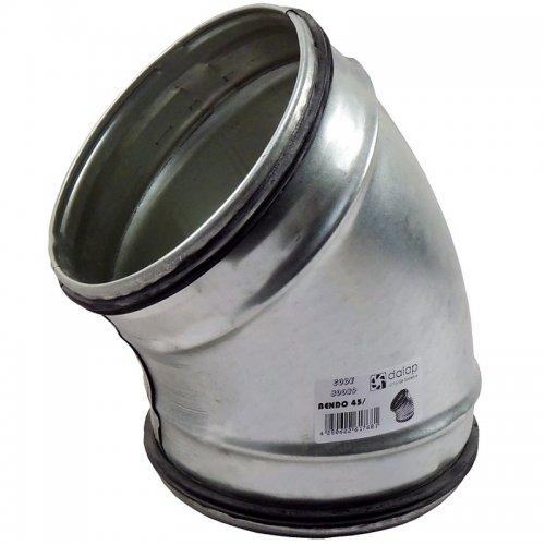 Koleno pozinkované 45° s těsnící gumou, průměr 200 mm DALAP BEND-O 45/200