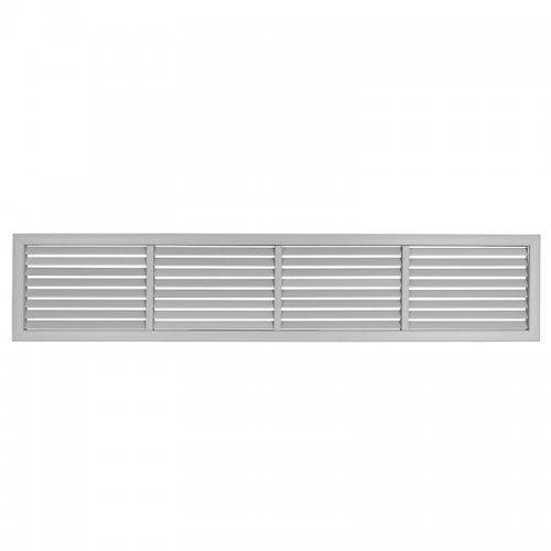 Plastová mřížka s pevnou horizontální žaluzií 303 x 1514 mm, šedá   DALAP GPHG 1500x300