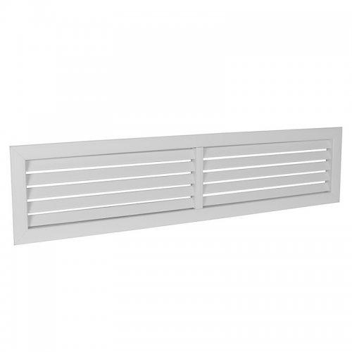 Plastová mřížka s pevnou horizontální žaluzií 392 x 912 mm, bílá  DALAP GPH 900x400