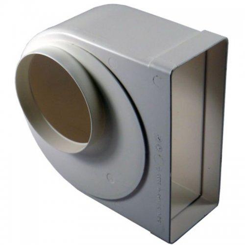 Redukce z kulatého na hranaté potrubí 90°, 220 x 90 mm / Ø 125 mm DALAP 951